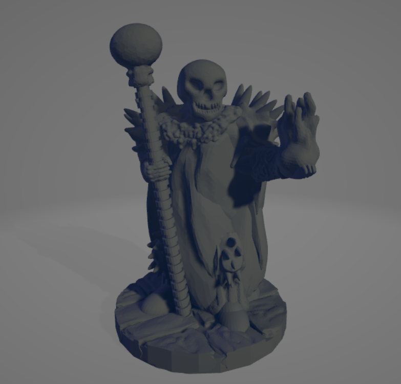 Undead-Wizard.png Download STL file Undead Wizard • 3D printable object, Ellie_Valkyrie