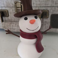 Printy!.jpg Download free STL file Printy the Snowman! (multi-color, assembled from one extruder) • 3D print design, BtJ