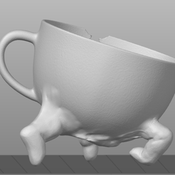 f6406dd.png Download free STL file Halloween decor part2 - creepy teacup • 3D printer object, o4saken