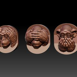 three wise monkeys.jpg Download OBJ file The Three Wise Monkeys 3D print model • 3D print model, Joneto