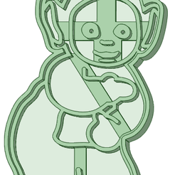 4_e.png Download STL file Teletubbies 4 whole cookie cutter • 3D printing template, osval74