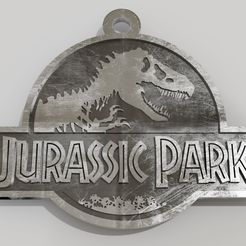 llavero jurassic park.jpg Download STL file Jurassic park logo key ring • 3D printable design, fabiofenix88