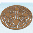 2.png Download free STL file CELTED CIRCLE • Object to 3D print, oasisk