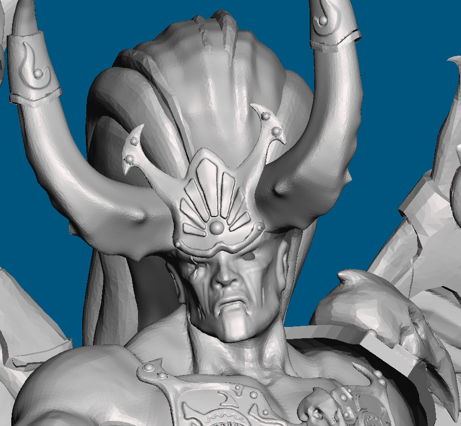 new_face.PNG Download free STL file Offering to the Emperor for 1000th follower milestone (28mm) • 3D printable template, Sebtheis
