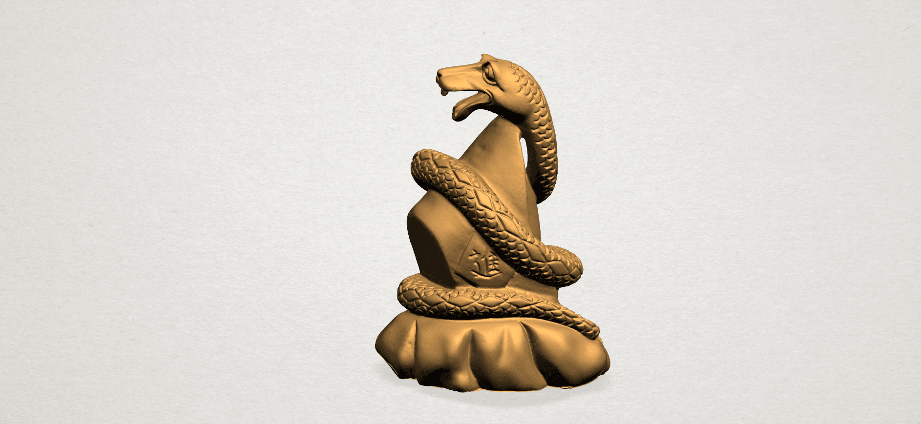 Chinese Horoscope06-A03.png Télécharger fichier STL gratuit Horoscope Chinois 06 Serpent • Design imprimable en 3D, GeorgesNikkei