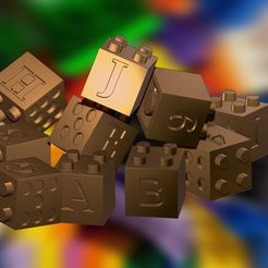 colec1.jpg Download free STL file Play Cubes Educational Lego Numbers and Letters Set 1 • 3D printing design, samlyn696