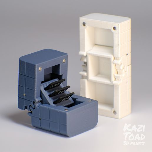 both.jpg Download STL file Micro geared cases: for micro SD cards and other tiny objects • Object to 3D print, KaziToad