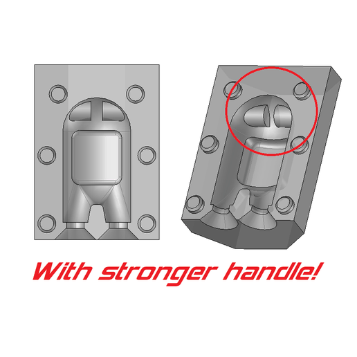 uv3.png Download STL file Mold Among Us - Ultimate version (stronger handle) • Object to 3D print, OsvaldoFilho