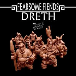 720X720-dreth-render.jpg Download free STL file Fearsome Fiends: Dreth • Model to 3D print, illgottengames