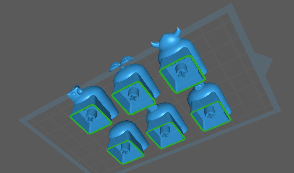 2.png Download STL file Pack 6 keycaps Among Us • Model to 3D print, 1340Factory