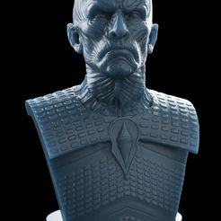 untitled.66.jpg Download OBJ file Night King Bust v2- Game of Thrones 3D print model • Design to 3D print, brkhy