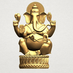 Ganesha A01.png Download free STL file Ganesha 01 • 3D printing template, GeorgesNikkei