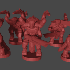 warriors.png Download free STL file Epic scale (6mm) Space Bug Soldiers • 3D printing model, Tinnut