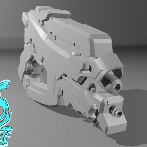 container_mass-effect-m5-phalanx-3d-printing-145217.jpg Download free STL file mass effect M5 phalanx pistol • 3D printable object, OddWorks