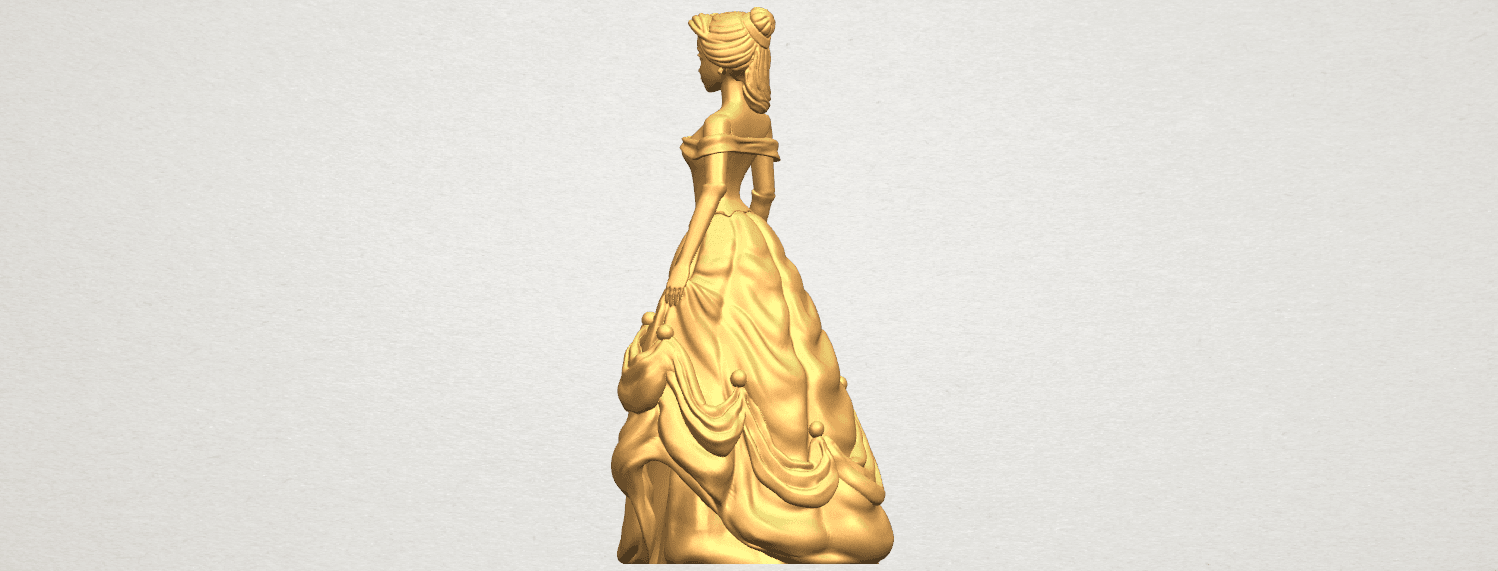 TDA0578 Princess Belle A04.png Download free STL file Princess Belle • 3D print object, GeorgesNikkei