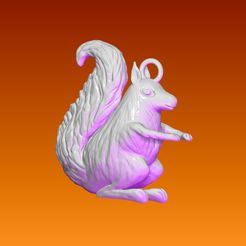 ZBrush-Document.jpg Download free STL file Squirrel Key Holder • 3D print template, THErkan