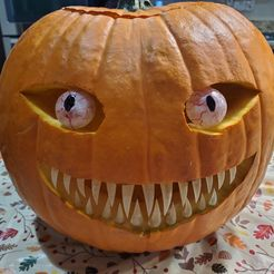 Resized_20191030_222938.jpeg Download free STL file Spooky Pumpkin Teeth and Eyes • Object to 3D print, Dauler