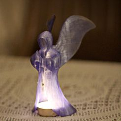 angel2_display_large.jpg Download free STL file glowing angel • 3D print template, Durbanarb