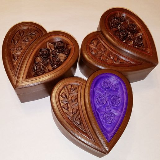 img (10).jpg Download free STL file Jewellery box in the shape of a heart and decorated with roses • 3D printer model, oasisk