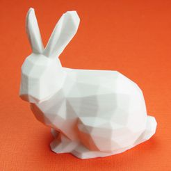 LowpolyStanfordBunnyWithUprightEars3DPhoto1.jpg Download free STL file Lowpoly Stanford Bunny With Upright Ears • 3D printer model, CBDesigns