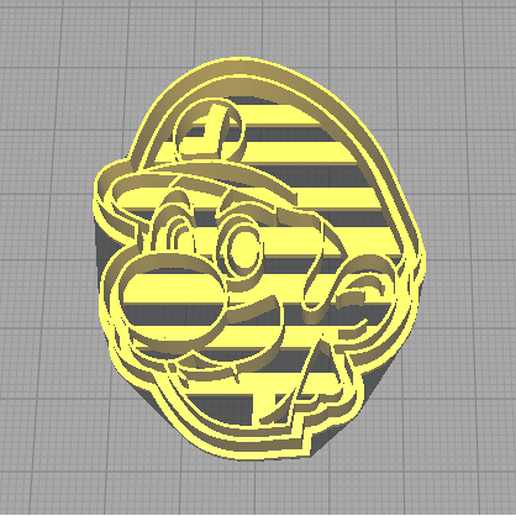 rosa cortante.png Download free STL file Luigi cookie cutter from mario bros games • 3D printable object, NicoDLC