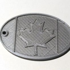 luggage_tag_Canada1.jpg Download free STL file luggage tag Canada • 3D print model, cristcost