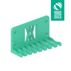 011_02_gia.jpg Download free STL file Combination Spanner Set 8pcs metric 8-19mm Wall Holder 011 I for screws or peg board • Design to 3D print, ENABLE3D