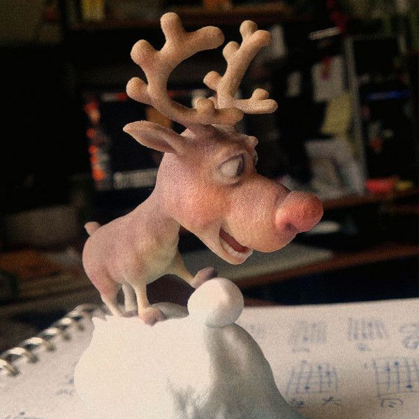 R003.jpg Download STL file Rudolph, tRed Nose Reindeer • Object to 3D print, MWopus
