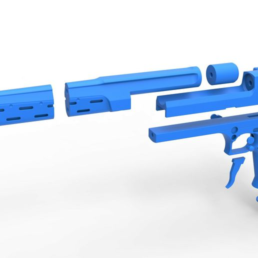 64.jpg Download STL file Pistol from the movie The Punisher 1989 • 3D printing model, CosplayItemsRock