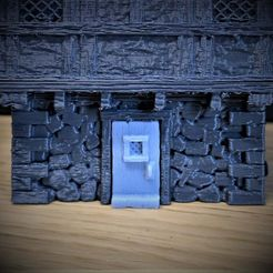 IMG_1683.jpg Download free STL file Door for 28mm Scale Medieval Tudor Style Wargaming House • 3D printing model, BigMrTong