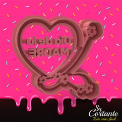 1710.jpg Download STL file MOTHER'S DAY - MOTHER'S DAY - COOKIE CUTTERS - MOTHER'S DAY - COOKIE CUTTERS • 3D printing object, SrCortante