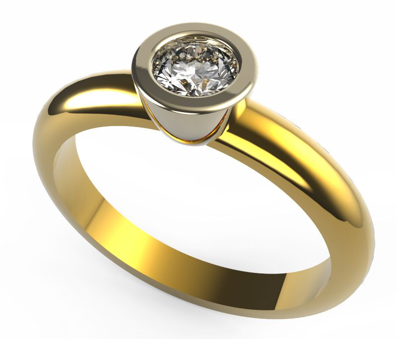 """anillo-con-virola.jpg Download STL file Contemporary Design Engagement Ring """"Inifinite Simplicity"""". • 3D printer object, pacart3d"""