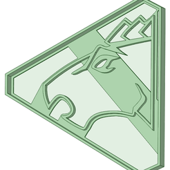 Blue.png Download STL file Blue Dino Charge Ranger Cookie cutter • 3D printing template, osval74