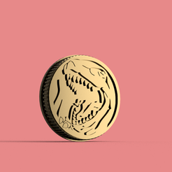 Power Rangers - Power Coin - Tyranno v5.png Download file Coin Power Ranger Tytanosaurus • Model to 3D print, Geralp