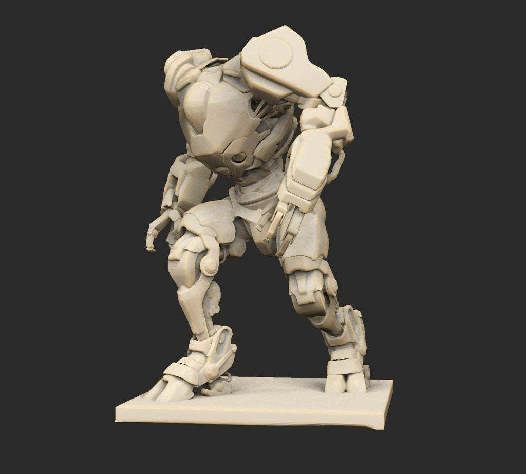 Pose37ZornWatching.jpg Download free STL file Cyberpunk Robots x6 • 3D printable object, CharlieVet