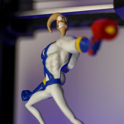 _MG_5096.jpg Download free OBJ file Earthworm Jim • 3D printable template, taiced3d