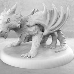 Angry_Baby_Dragon_1.jpg Download free STL file Angry Baby Dragon • 3D printing model, M3DM