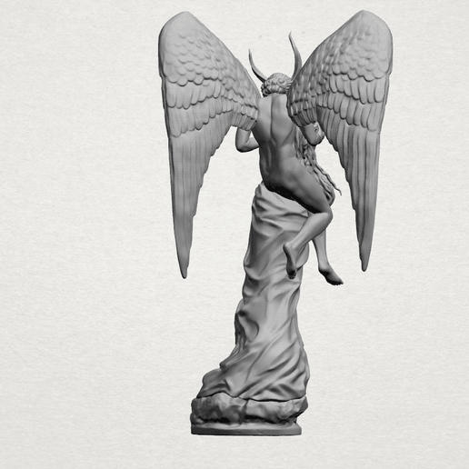 Angel and devil - A09.png Download free 3DS file Ángel y diablo • 3D printable object, GeorgesNikkei