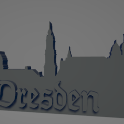 descarga - 2021-01-05T112602.145.png Download STL file Dresden city keychain (silhouette) • 3D print design, MartinAonL
