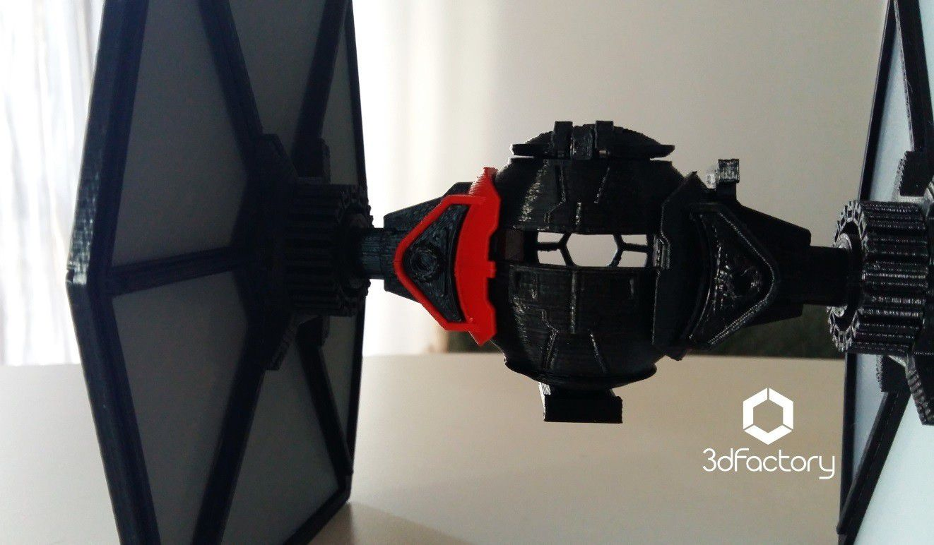 img3.jpg Download STL file Star Wars The Black Series First Order Special Forces TIE Fighter • 3D printable object, 3dFactory