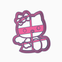 kittysentada2.png Download STL file kitty cookie cutter wings • 3D printable object, 3dcookiecutter