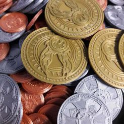 20200706_112023.jpg Download free STL file Warhammer gold coin (crown) • 3D printing object, PERECil