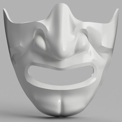 Capture d'écran 2017-09-14 à 16.07.02.png Download free STL file Samurai Half Mask (Mempo) • Model to 3D print, VillainousPropShop