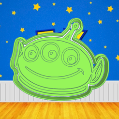 Neat Leelo.png Download STL file TOY STORY ALIEN COOKIE CUTTER • 3D printer template, KDASH