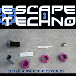 V02.jpg Download free STL file Nut Bolt - Escape Game • 3D printer object, EscapeTechno