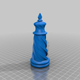 King.png Download free STL file Solid Spiral Chess Set • 3D printing template, rleblanc
