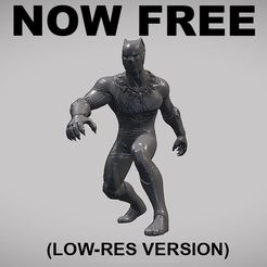 BLACK_PANTHER_POSE_NOW-FREE_010.jpg Download free OBJ file BLACK PANTHER V01 LOW-RES VERSION • 3D printer model, Masterclip