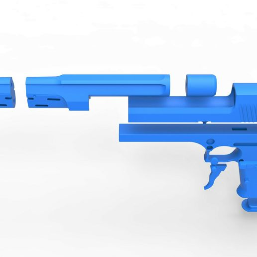 68.jpg Download STL file Pistol from the movie The Punisher 1989 • 3D printing model, CosplayItemsRock