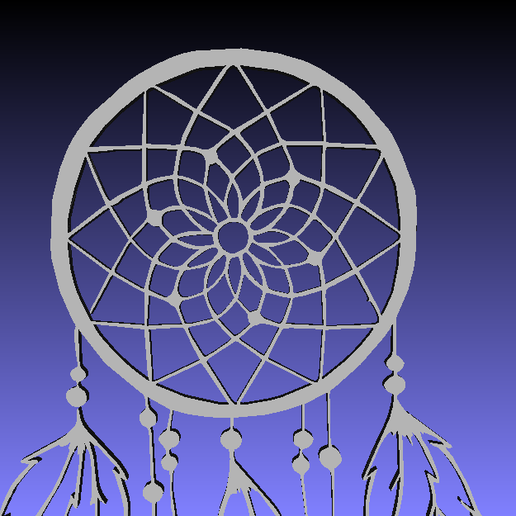 046Snap01.png Télécharger fichier STL DREAM CATCHER 2 2D • Plan à imprimer en 3D, sergiomdp01