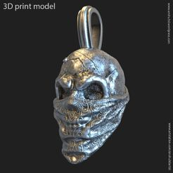 SG_vol2_P_k2.jpg Download STL file skull gangster vol2 pendant • 3D printable model, AS_3d_art